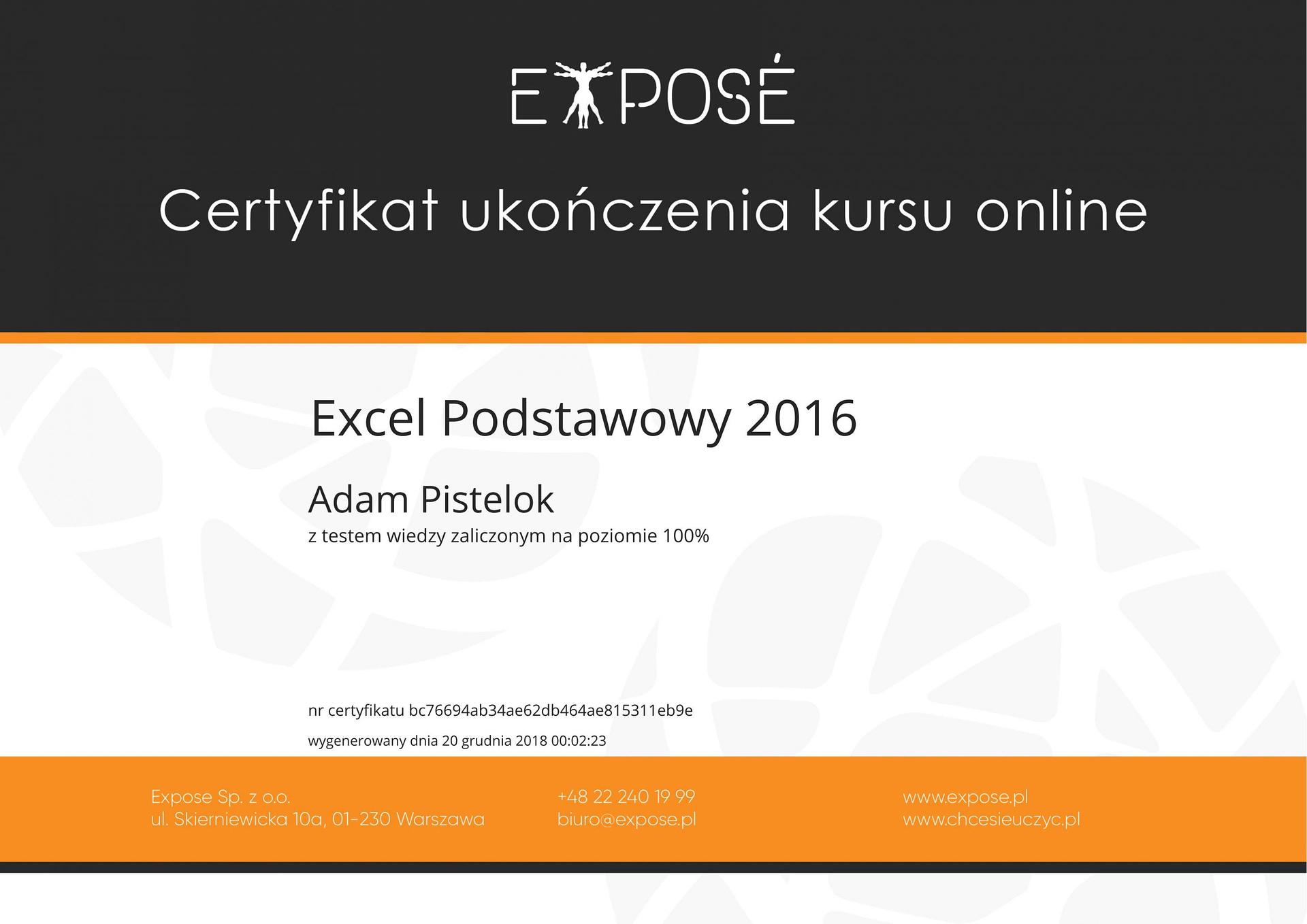 Excel podstawy 2016