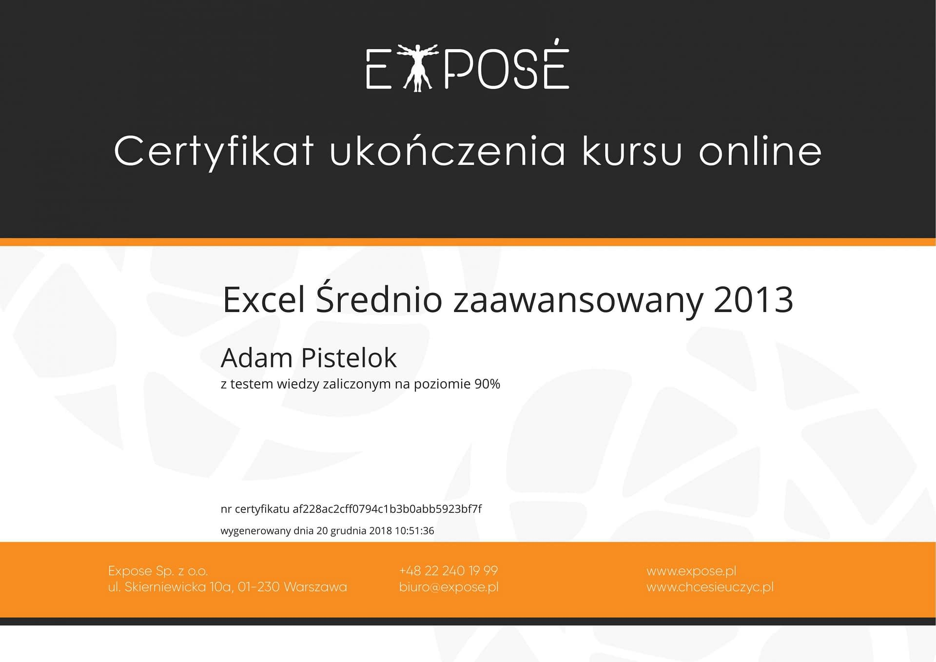 Excel sredniozaawansowany 2013