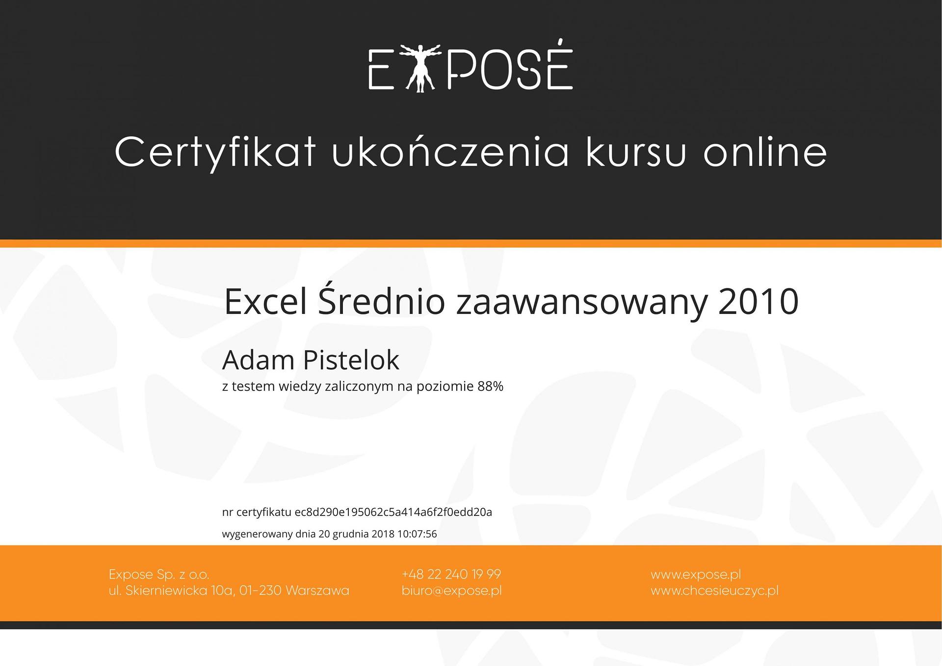 Excel sredniozaawansowany 2010