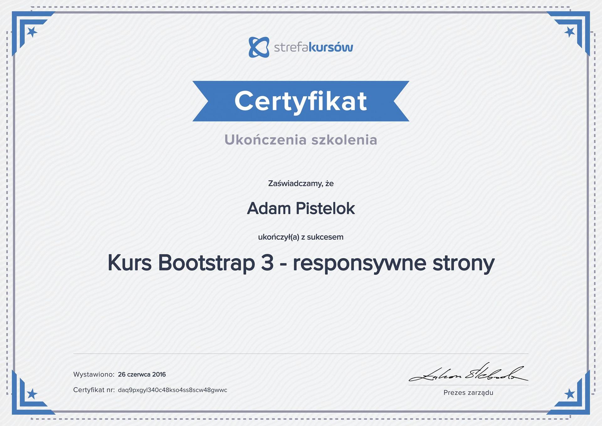 Bootstrap 3 responsywne strony