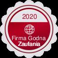 Medal i Certyfikat Firma Godna Zaufania - 3 rok z rzędu