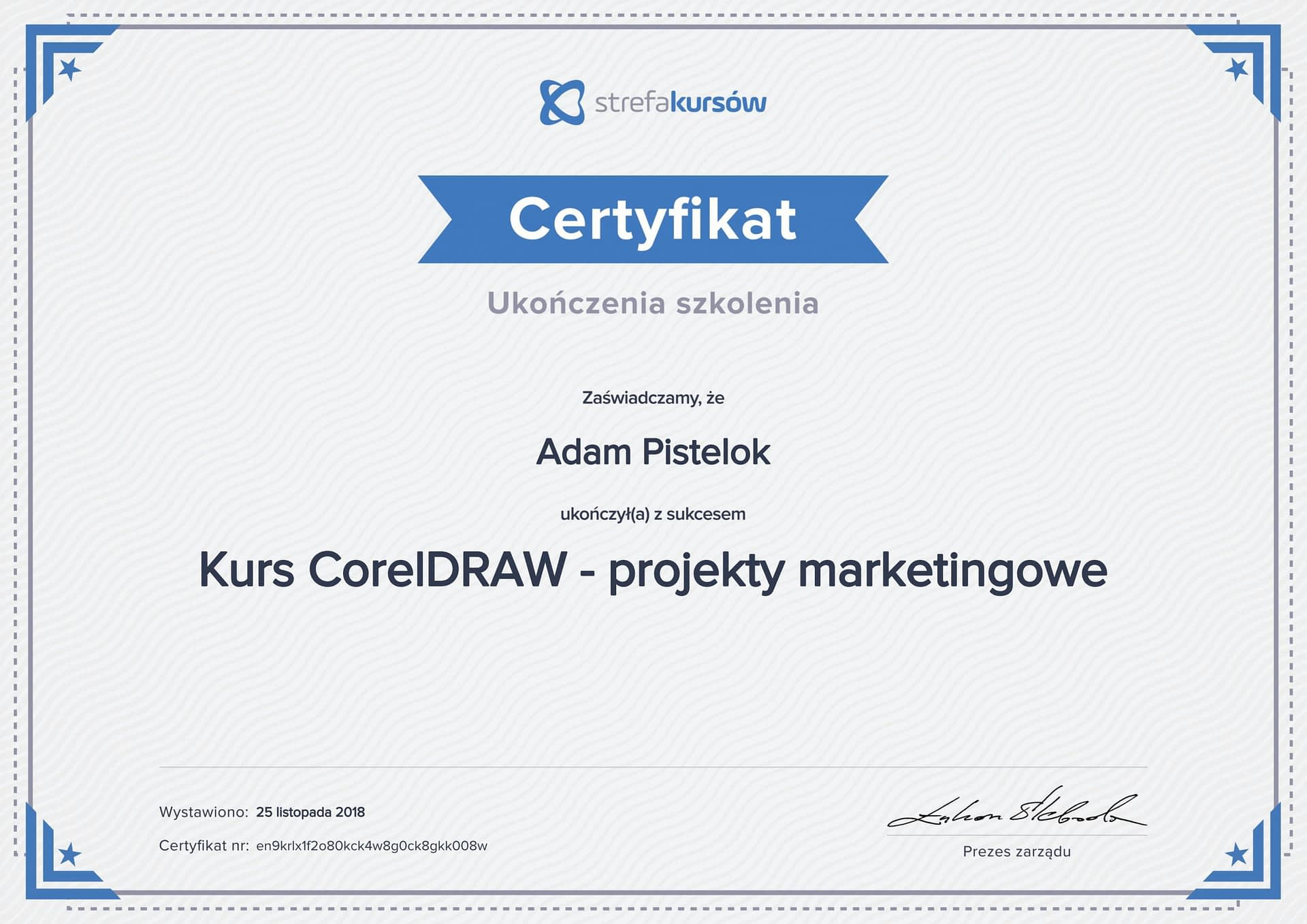 Corel draw projekty marketingowe