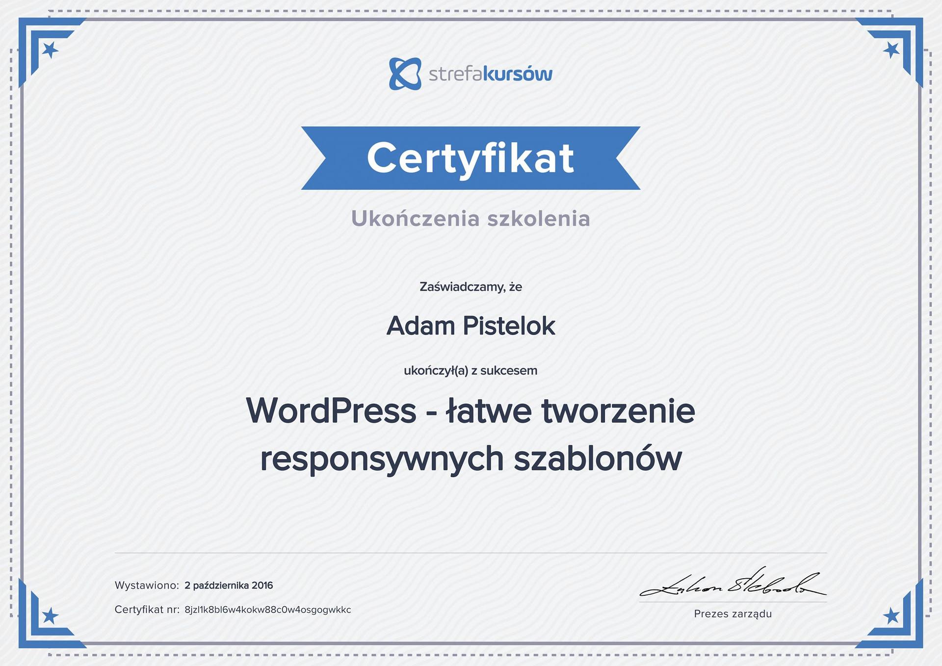 Wordpress responsywne szablony