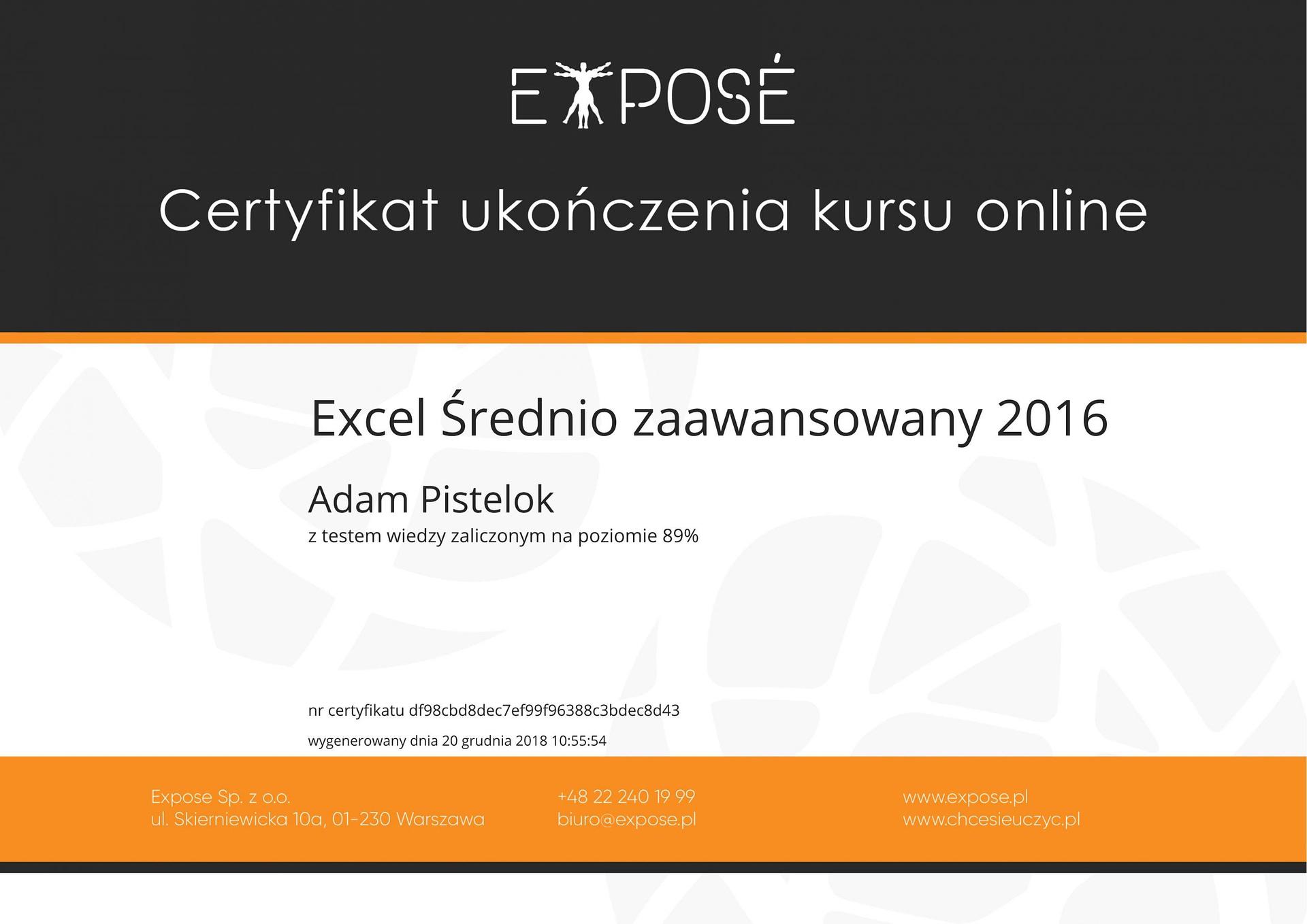 Excel sredniozaawansowany 2016