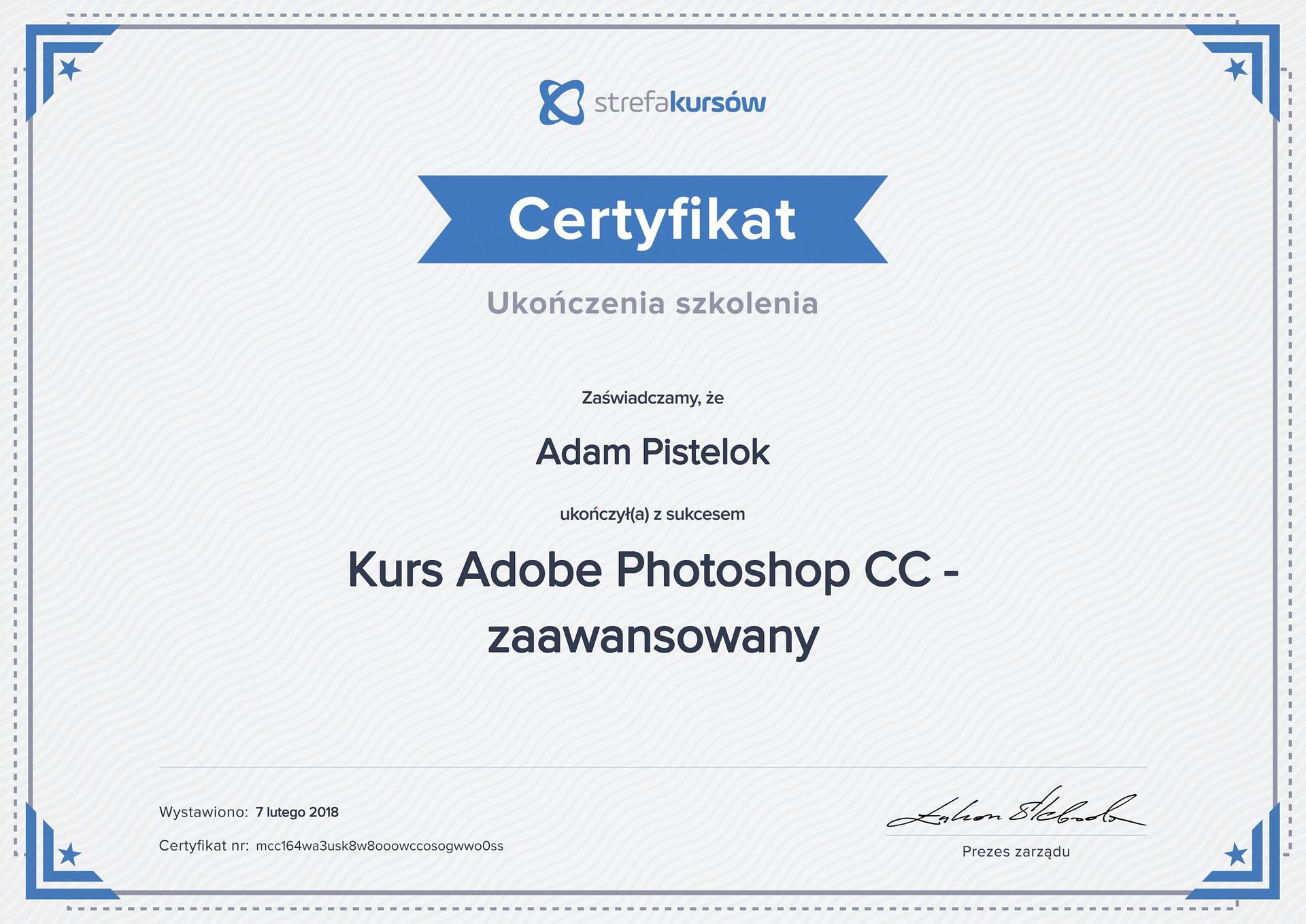 Photoshop cc zaawansowany