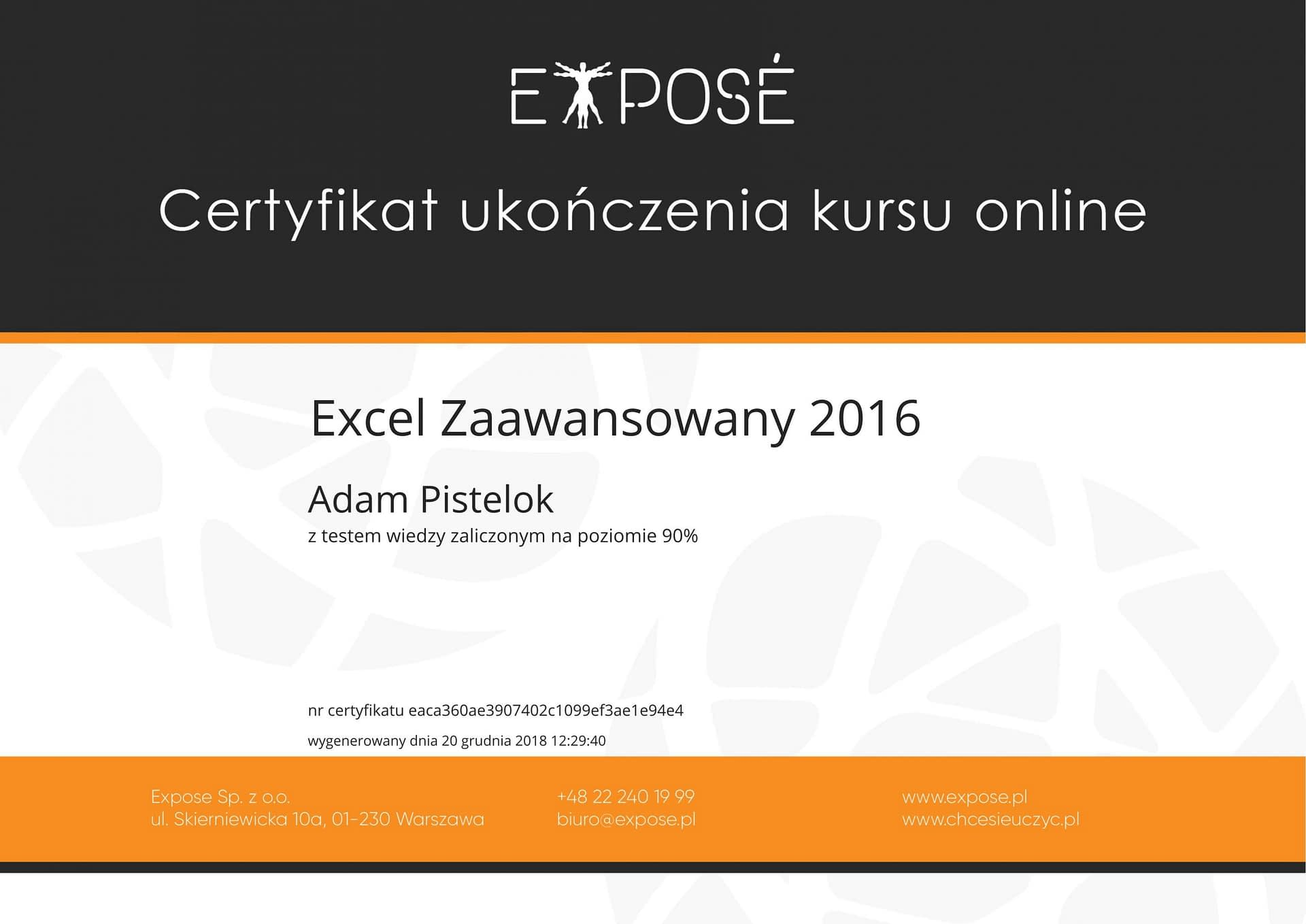 Excel zaawansowany 2016