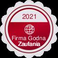 Medal i Certyfikat Firma Godna Zaufania - 4 rok z rzędu