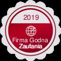 Medal i Certyfikat Firma Godna Zaufania - 2 rok z rzędu